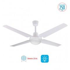 Ventilador De Techo Liliana Vthb114 Blanco Con Luz Led